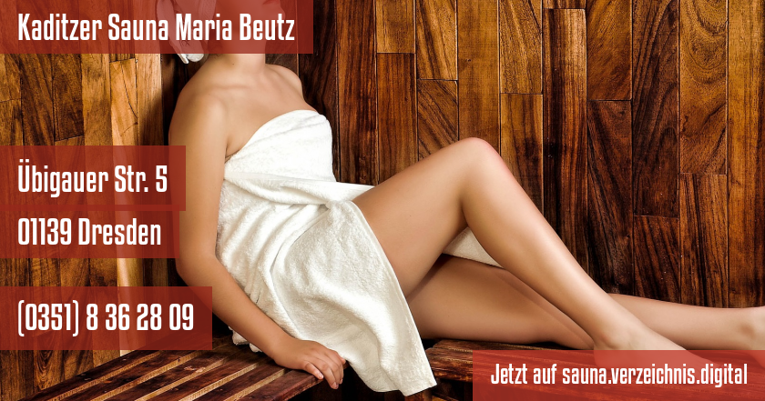 Kaditzer Sauna Maria Beutz auf sauna.verzeichnis.digital